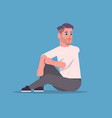 businessman in formal wear sitting pose smiling vector image vector image