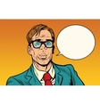 businessman says comic cloud vector image vector image
