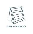 calendar note line icon calendar note vector image vector image
