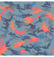 Camouflage seamless moody sky spots pattern vector image vector image