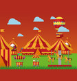 carnival amusement park vector image vector image