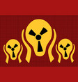 caution radiation scream terror fear vector image vector image
