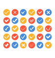 check and cross marks icons - set web elements vector image vector image