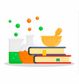 chemistry book concept background flat style vector image