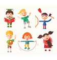 Children and their hobbies - flat design vector image