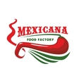 Chili pepper for mexican restaurant food icon vector image