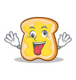 crazy bread character cartoon style vector image vector image