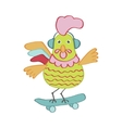 Cute cartoon rooster character