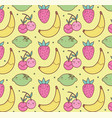 cute fruits pattern vector image vector image