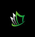 data storage upload business finance logo vector image vector image