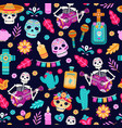 day dead seamless pattern flower decoration vector image