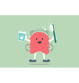 dental braces cleaning vector image vector image