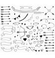 Doodle love set for design vector image vector image