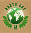 earth day craft poster vector image vector image