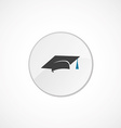education icon 2 colored vector image