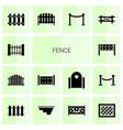 fence icons vector image vector image