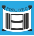 Flexible display smartphone flat style vector image