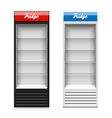 Glass door display fridge vector image