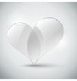 Glass Heart vector image
