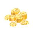golden coins stack graphic vector image vector image