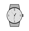 hand watch flat icon time is the most valuable vector image vector image