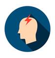 headache circle icon vector image