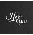 I love you retro label vector image
