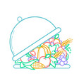 icon of nutrition linear style vector image vector image