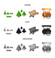 isolated object of urban and street logo vector image