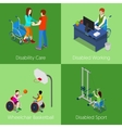 Isometric Disabled People Disability Care vector image vector image