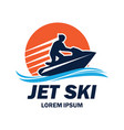 jet ski logo with text space for your slogan vector image
