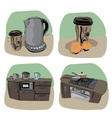 Kitchen icon - four variations vector image