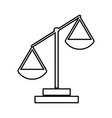 law scale black color icon vector image vector image