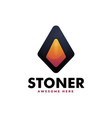 logo stone gradient colorful style vector image