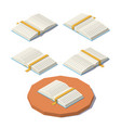 low poly open book vector image vector image