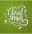 merry christmas typography background vector image vector image