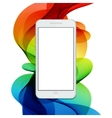 modern smartphone on colorful abstract vector image vector image
