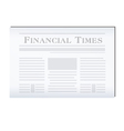 newspaper financial vector image vector image