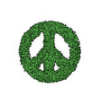 peace sign leaf icon vector image vector image