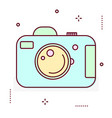 photo digital camera line icon vector image vector image