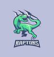 raptors gaming logo vector image