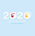 rat on clean background 2020 new year chinese new vector image vector image