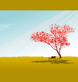 sakura tree wallpaper with sky vector image vector image