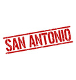 San Antonio red square stamp vector image vector image