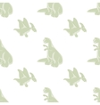 Seamless pattern Funny dinosaurs vector image
