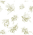 seamless pattern olives vector image vector image
