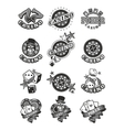Set casino badge vector image