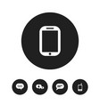 set of 5 editable phone icons includes symbols vector image