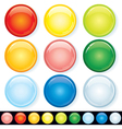 Set of Blank Glass Badges vector image vector image