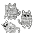 Set of boho cats